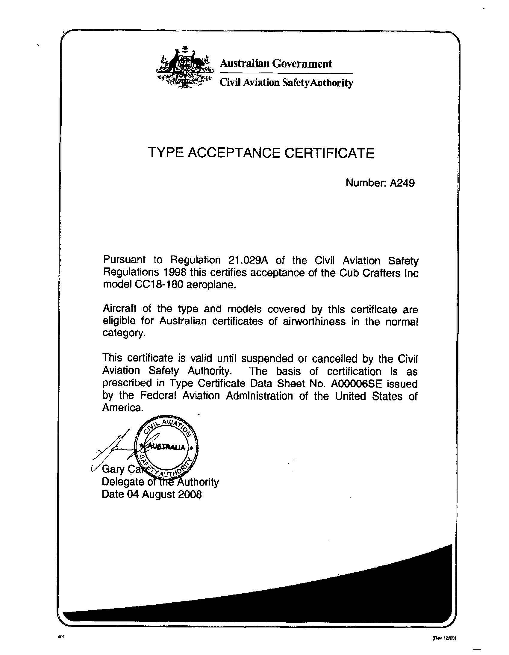 Australian Type Certificate [13789]_页面_1