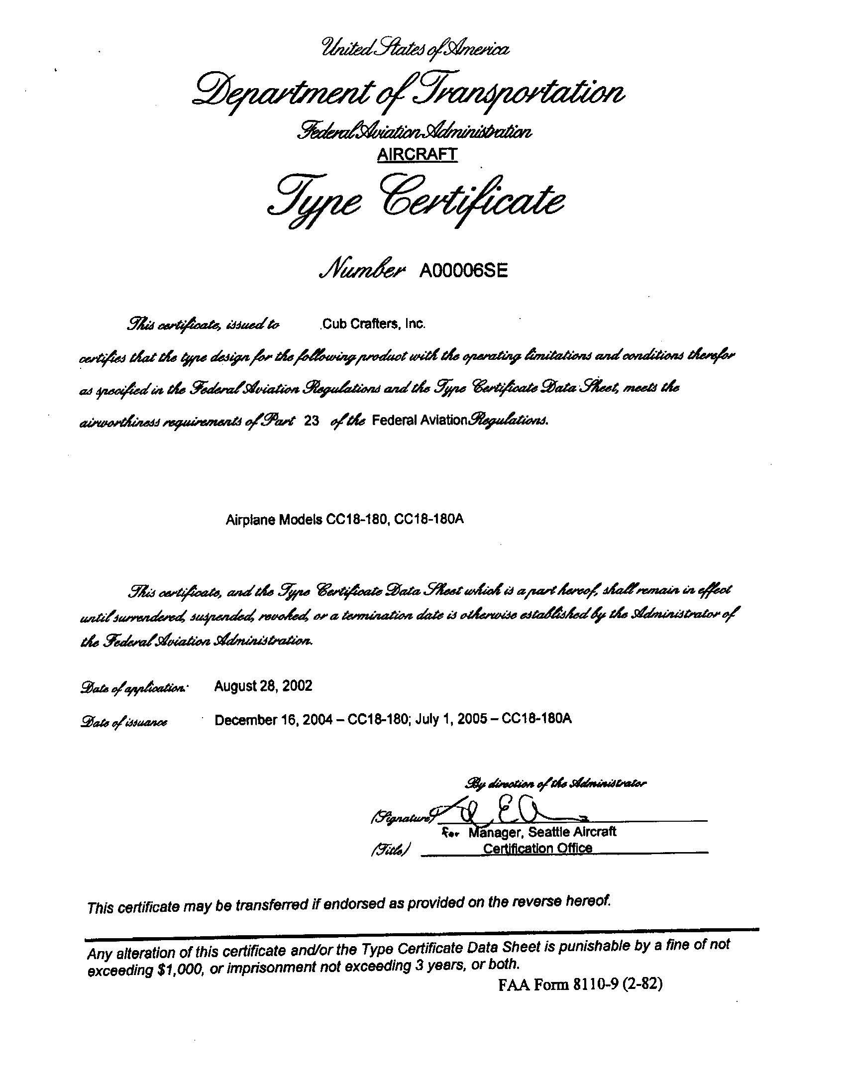 CC18 Type Certificate [13791]_页面_1